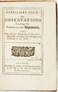 Books:Science & Technology, Sir Matthew Hale. Difficiles Nugae: Or, Observations Touchingthe Torricellian Experiment, And various Solutions of the ...