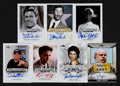 Non-Sport Cards:Lots, Signed 2014 Leaf Pop Century Group (7) With Jerry Lewis. ...
