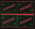 Baseball Collectibles:Others, Circa 1912 Hassan Cigarettes Slide & Shell Style Boxes Group(4). ...