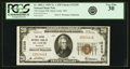 National Bank Notes:Missouri, Saint Louis, MO - $20 1929 Ty. 1 The Grand NB Ch. # 12220 PCGS VeryFine 30.. ...
