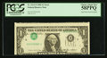 Error Notes:Inverted Third Printings, Fr. 1913-F $1 1985 Federal Reserve Note. PCGS Choice About New58PPQ.. ...