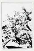 Original Comic Art:Covers, Tom Grindberg Airboy Presents Air Fighters #1 UnpublishedCover Original Art (Moonstone, 2011)....