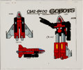 Animation Art:Color Model, Challenge of the GoBots Fitor Color Model Cel Animation Art(Hanna-Barbera, 1984). ...