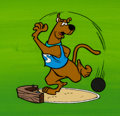 Animation Art:Color Model, Scooby's All-Star Laff-A-Lympics Scooby-Doo Color Model Cel and Production Background Setup Animation Art (Hanna-Barbe... (Total: 2 Original Art)