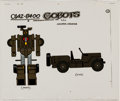 Animation Art:Color Model, Challenge of the GoBots Geeper-Creeper Color Model CelAnimation Art (Hanna-Barbera, 1984). ...