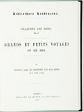 Books:Reference & Bibliography, Ludovic, Earl of Crawford. Grands et Petit Voyage of De Bry.Mansfield: Martino, 2002 (Reprint 1884). Krown & ...