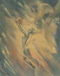 Pin-up and Glamour Art, MARGARET BRUNDAGE (American, 1900-1976). Wind. Oil oncanvasboard. 20 x 16 in. (sheet). Signed lower left. ...
