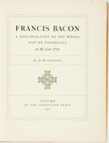 Books:Reference & Bibliography, R. W. Gibson. Francis Bacon: A Bibliography of His works and ofBaconia to the year 1750. Oxford: Scrivener Press, 1...