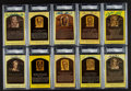 Autographs:Post Cards, Signed Yellow Baseball HoF Plaque Post Cards PSA/DNA Collection(10). ...