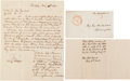 Autographs:Military Figures, [Mexican War]. General Horatio Hubbell Autograph Letter Signed and Printed Circular....