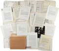 Autographs:Authors, Carl Hertzog Archive of Correspondence....