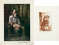 Autographs:Artists, Group of Two Signed Artists' Prints.... (Total: 2 Items)