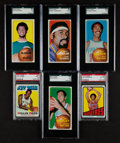 Basketball Cards:Lots, 1970 - 1972 Topps Basketball Stars & HoFers Graded Collection(6)....