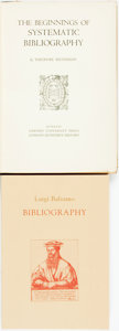 Books:Reference & Bibliography, [Bibliography.] Luigi Balsamo. William A. Pettas, translation.Bibliography: History of a Tradition. Berkeley: Berna...(Total: 2 Items)