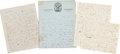 Autographs:Military Figures, [Mexican War]. Four Letters from a Doctor... (Total: 4 Items)