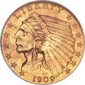 Proof Indian Quarter Eagles, 1909 $2 1/2 PR65 NGC....