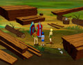Animation Art:Production Cel, Noah's Ark - The Greatest Adventures: Stories From The Bible Production Cel and Painted Master Production Background S... (Total: 6 Original Art)