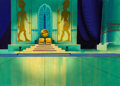 Animation Art:Painted cel background, Moses- The Greatest Adventures: Stories From The Bible Painted Master Background Animation Art (Hanna-Barbera, 1985)....