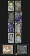 Boxing Collectibles:Memorabilia, 1910's -1960's Boxing Transparency & Printing Plates Collection (10) With Jack Johnson. ...