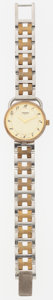 Luxury Accessories:Accessories, Hermes Gold-Plated Stainless Steel Clipper PM Watch . ...