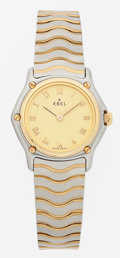 Luxury Accessories:Accessories, Ebel Gold & Stainless Steel Lady's Wave Wristwatch . ...