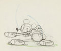 Animation Art:Production Drawing, On Ice Mickey Mouse Drawing Animation Art (Walt Disney,1935)....