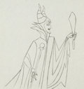 Animation Art:Production Drawing, Sleeping Beauty Maleficent with Torch Drawing Animation Art(Walt Disney, 1959)....