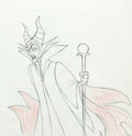 Animation Art:Production Drawing, Sleeping Beauty Maleficent with Staff Drawing Animation Art(Walt Disney, 1959)....