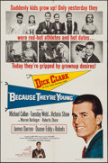 """Movie Posters:Drama, Because They're Young (Columbia, 1960). One Sheet (27"""" X 41""""). Drama.. ..."""