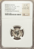 Ancients:Roman Imperial, Ancients: Lot of four AR denarii of Faustina maior (died AD140/141).... (Total: 4 coins)