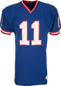 Football Collectibles:Uniforms, 1981 Phil Simms Game Worn New York Giants Jersey - Worn in The Game Which Ended His Season!...