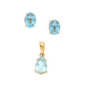 Estate Jewelry:Other , Blue Topaz, Gold Jewelry. ... (Total: 2 Items)