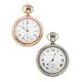 Timepieces:Pocket (post 1900), Two Waltham's Swing Out's 18 Size Pocket Watches Runners. ...(Total: 2 Items)