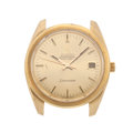 Timepieces:Wristwatch, Omega Seamaster 18k Heavy Gold Wristwatch. ...