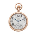 Timepieces:Pocket (post 1900), Waltham 21 Jewel Crescent St. Up/Down Indicator Pocket Watch. ...