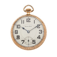 South Bend 21 Jewel Open Face Pocket Watch
