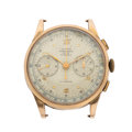 Timepieces:Wristwatch, A.E.C. Watch Co. Chronographe Suisse 18k Gold Wristwatch. ...