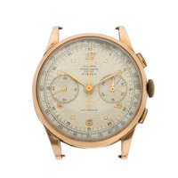 A.E.C. Watch Co. Chronographe Suisse 18k Gold Wristwatch