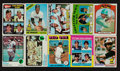 Autographs:Sports Cards, 1958 - 1979 Topps Baseball Card Collection (20) With Stars &HoFers....