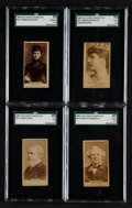 Non-Sport Cards:Lots, 1887 N171 Old Judge World Rulers SGC Graded Group (4). ...