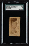 "Non-Sport Cards:Singles (Pre-1950), 1887 N372 Lone Jack ""President's House"" SGC 84 NM 7 - The Only SGCExample. ..."