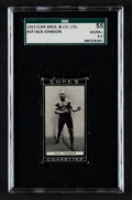 Boxing Cards:General, 1915 Cope Bros. Jack Johnson #37 SGC 55 VG/EX+ 4.5. ...