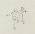 Animation Art:Production Drawing, Sleeping Beauty Briar Rose and Prince Phillip Drawing Animation Art (Walt Disney, 1959)....