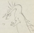 Animation Art:Production Drawing, Sleeping Beauty Maleficent as Dragon Drawing Animation Art(Walt Disney, 1959)....