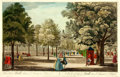 """Books:Prints & Leaves, Hand-Colored Engraving Entitled, """"A View of the Mall in St. JamesPark"""". [N.p., n.d.]. ..."""