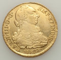 Chile, Chile: Charles III gold 8 Escudos 1787 So-DA VF Cleaned withScratches,...