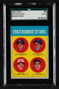 Baseball Cards:Singles (1960-1969), 1963 Topps Pete Rose 1963 Rookie Stars #537 SGC Authentic....