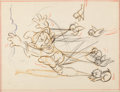 Animation Art:Production Drawing, Snow White and the Seven Dwarfs Dopey Layout Drawing (WaltDisney, 1937)....