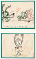 Animation Art:Production Drawing, Hawaiian Holiday Pluto Storyboards (Walt Disney, 1937)....