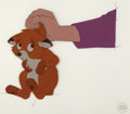 Animation Art:Production Cel, The Fox and the Hound Tod the Fox Production Cel Setup (WaltDisney, 1981).... (Total: 2 Items)
